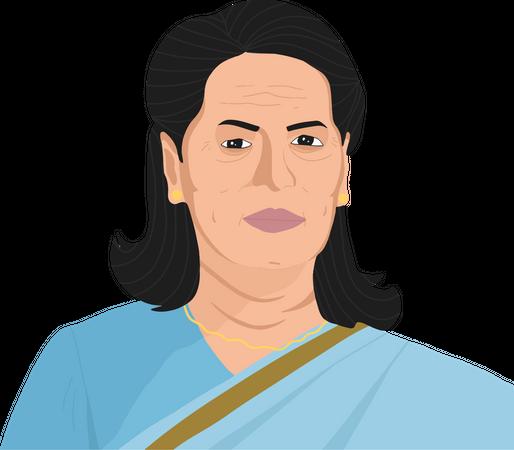 Sonia Gandhi Illustration