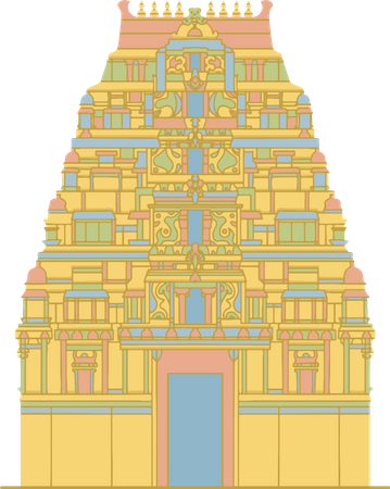 Sri Mahadeshwara Temple Illustration