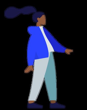 Standing lady Illustration