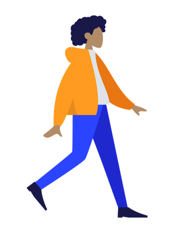 Standing lady with yellow jacket Illustration