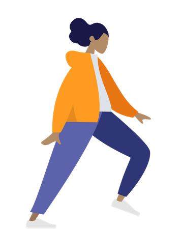 Standing woman Illustration