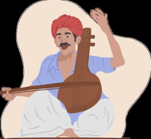Street Musician Illustration