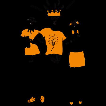 Successful leader Illustration