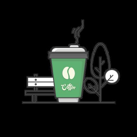 Takeaway coffee Illustration