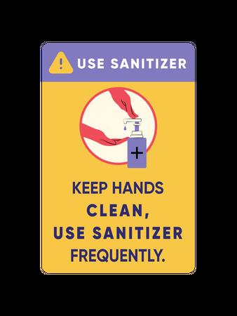 Use sanitizer Illustration