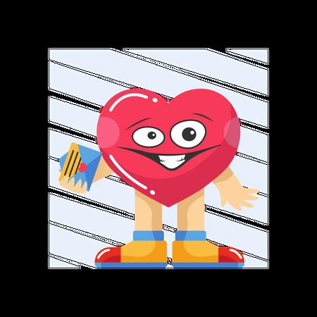 Valentine letter Illustration