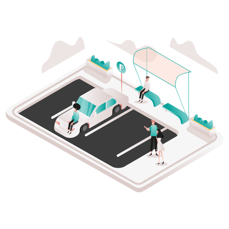 Valet Parking Illustration