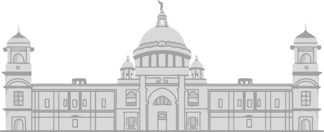 Victoria Memorial Illustration