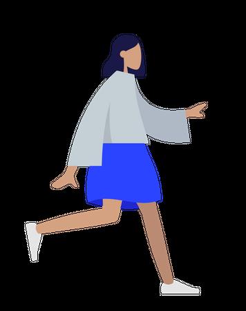 Walking girl Illustration