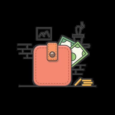 Wallet Illustration