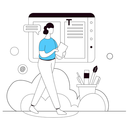 Web Content Design Illustration