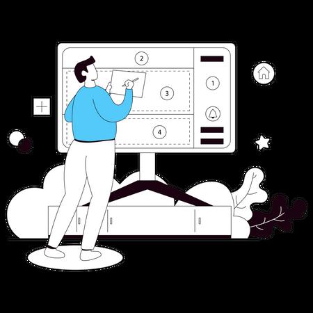 Web Design Layout Illustration