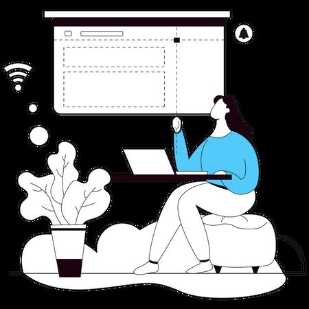 Web Designer Illustration