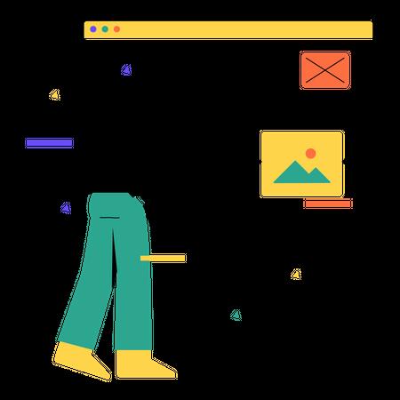 Web designing Illustration