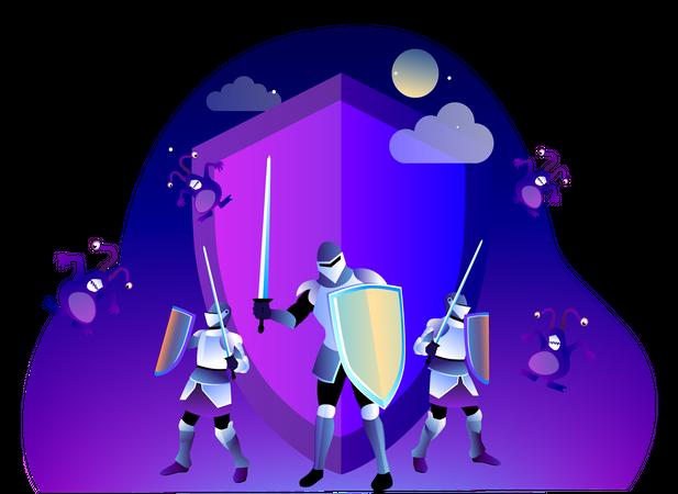Website Antivirus Illustration