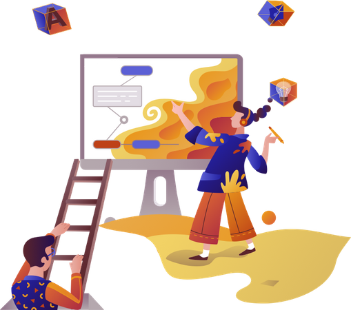 Website designing Illustration