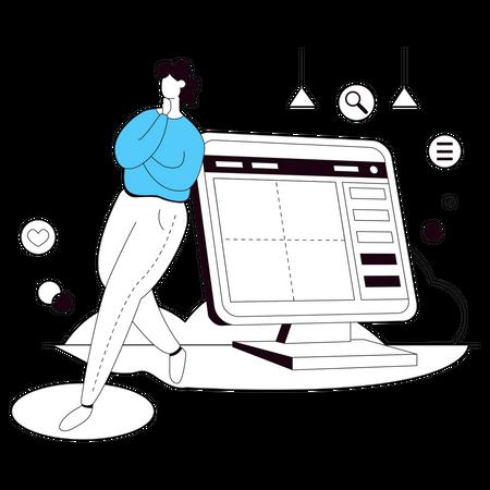 Website interface Illustration