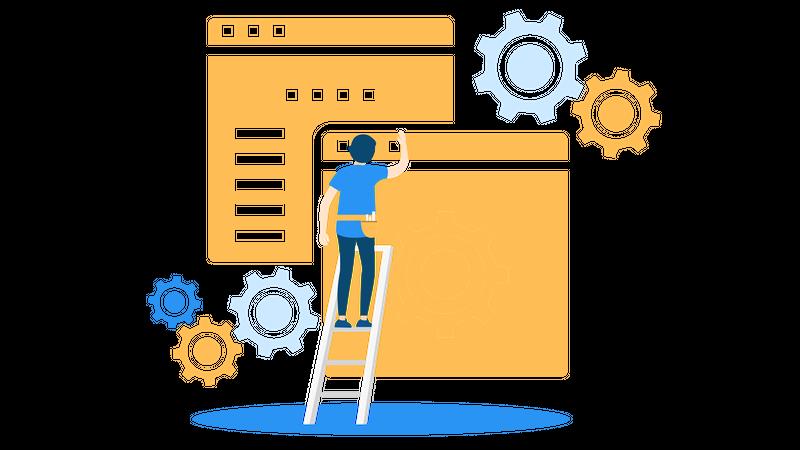 Free Website maintenance Illustration download in PNG & Vector format