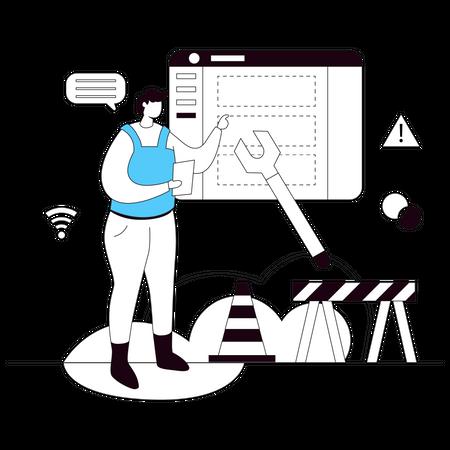 Website Maintenance Illustration