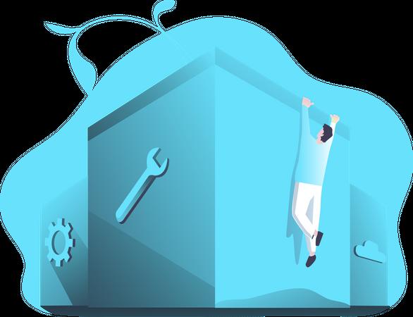 Website Setting Illustration
