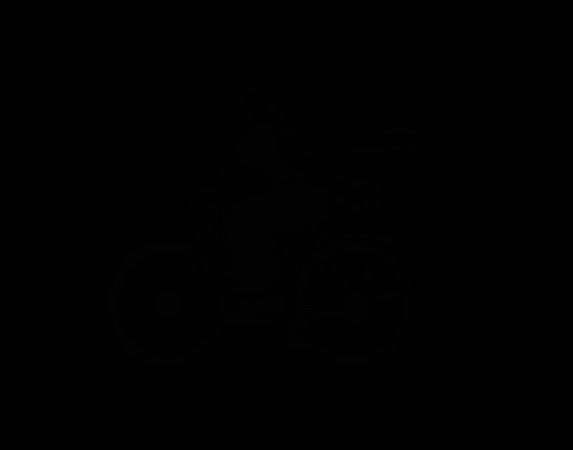 Women cycling Illustration