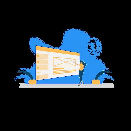 Wordpress development Illustration