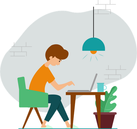 Work From Home Illustration