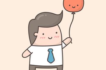 Kawaii Businessman Character Illustration Pack