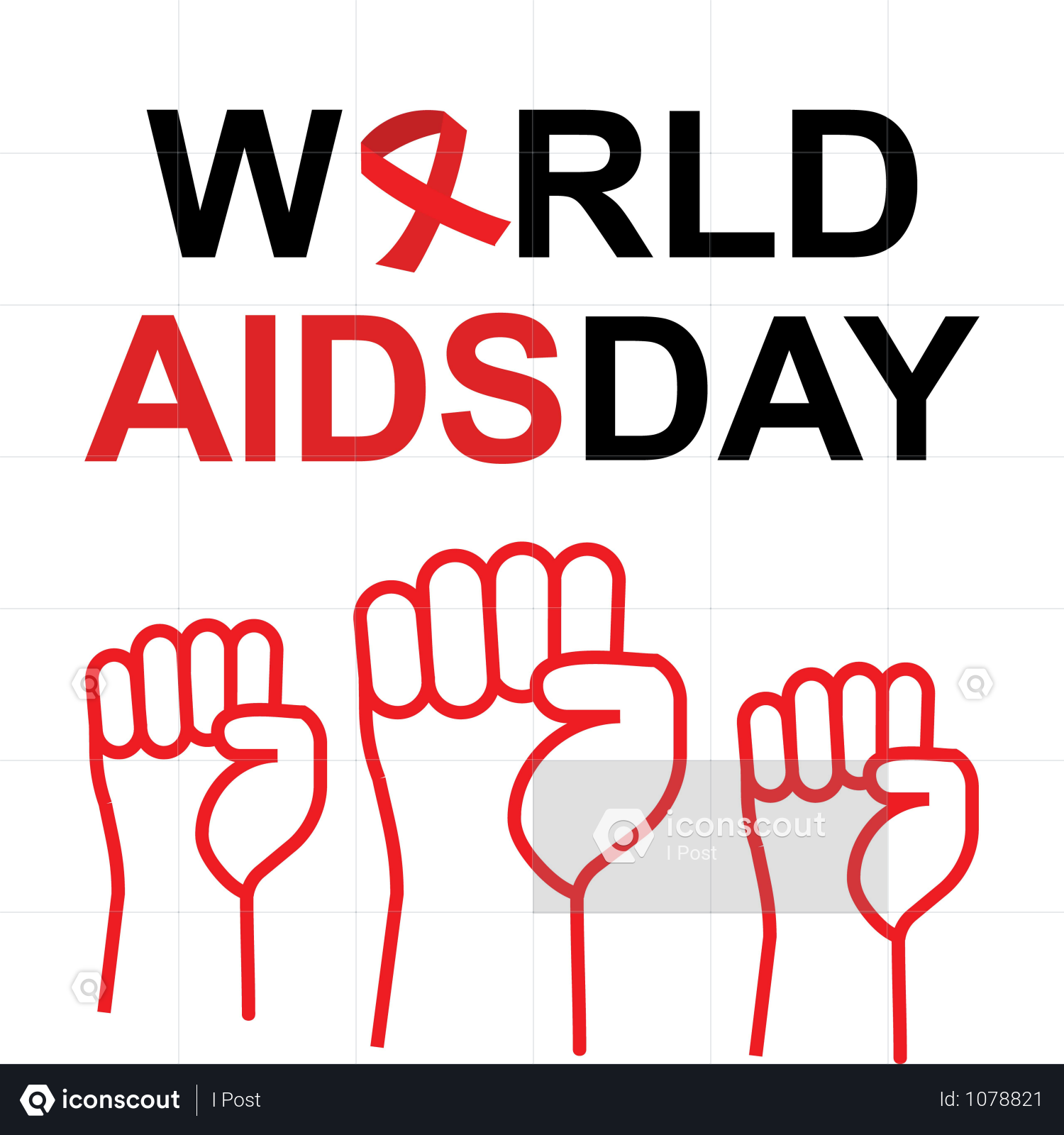 8143fc0625d 1st December World Aids Day Illustration Concept With Aids Awareness Ribbon. Poster Or Banner Template. Illustration