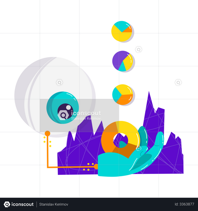 Ai data analysis Illustration