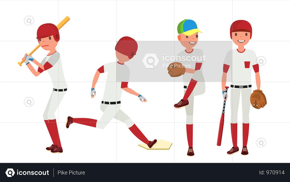 Baseball Player Illustration