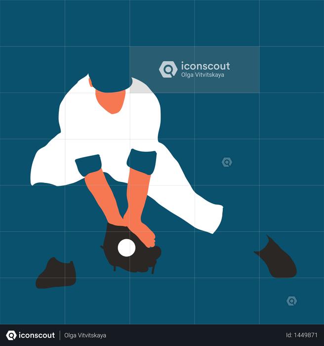 Baseball player better on field Illustration