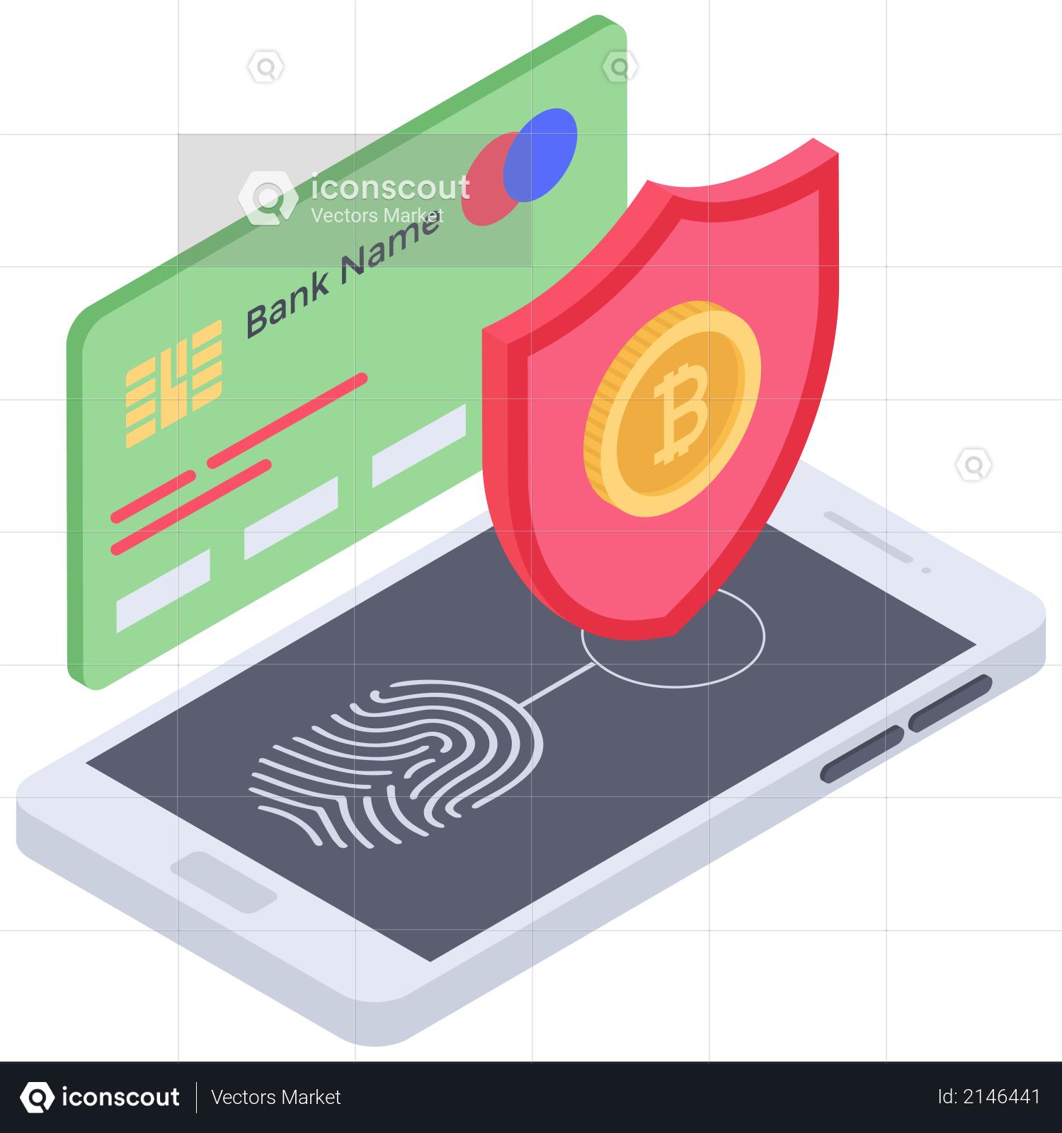 Bitcoin Card payment security Illustration