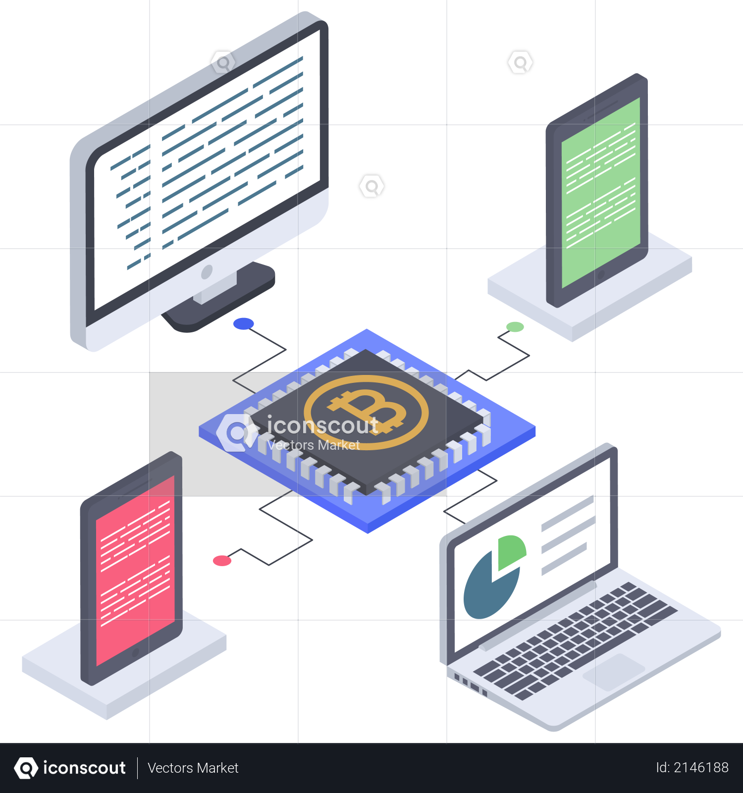 Bitcoin chip connectivity Illustration