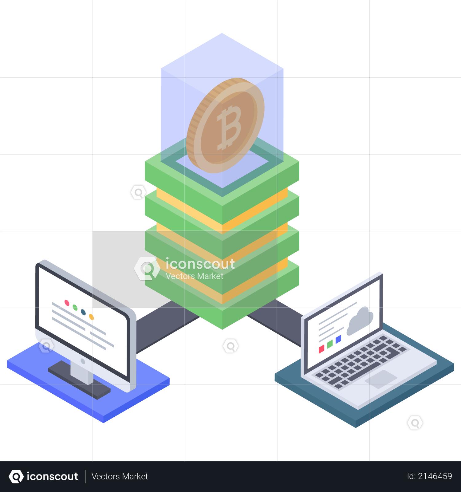 Bitcoin cloud server connection error Illustration