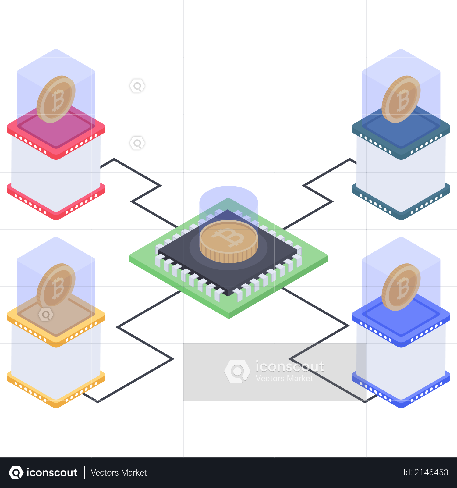 Bitcoin creation Illustration