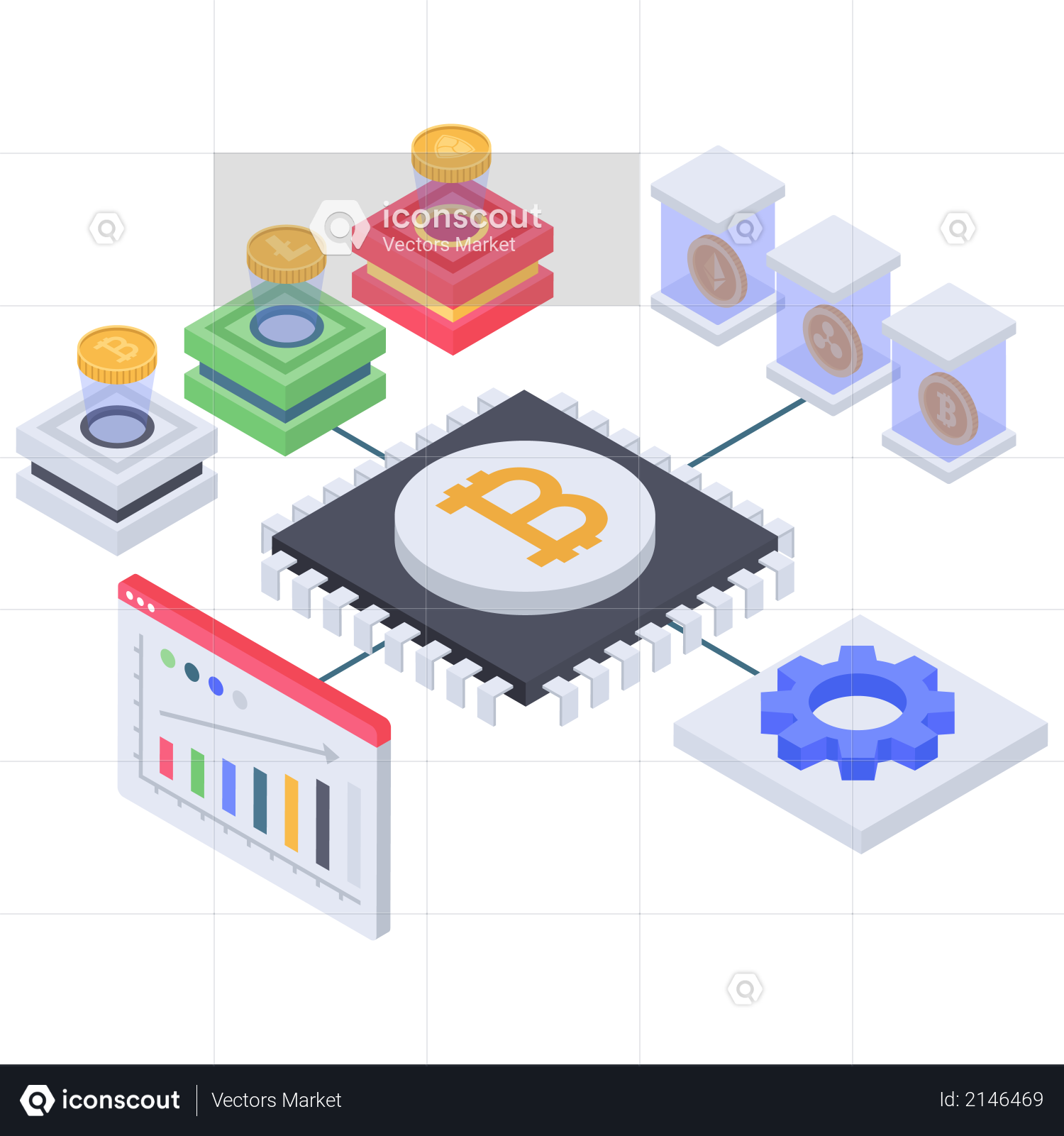 Bitcoin database management processor Illustration