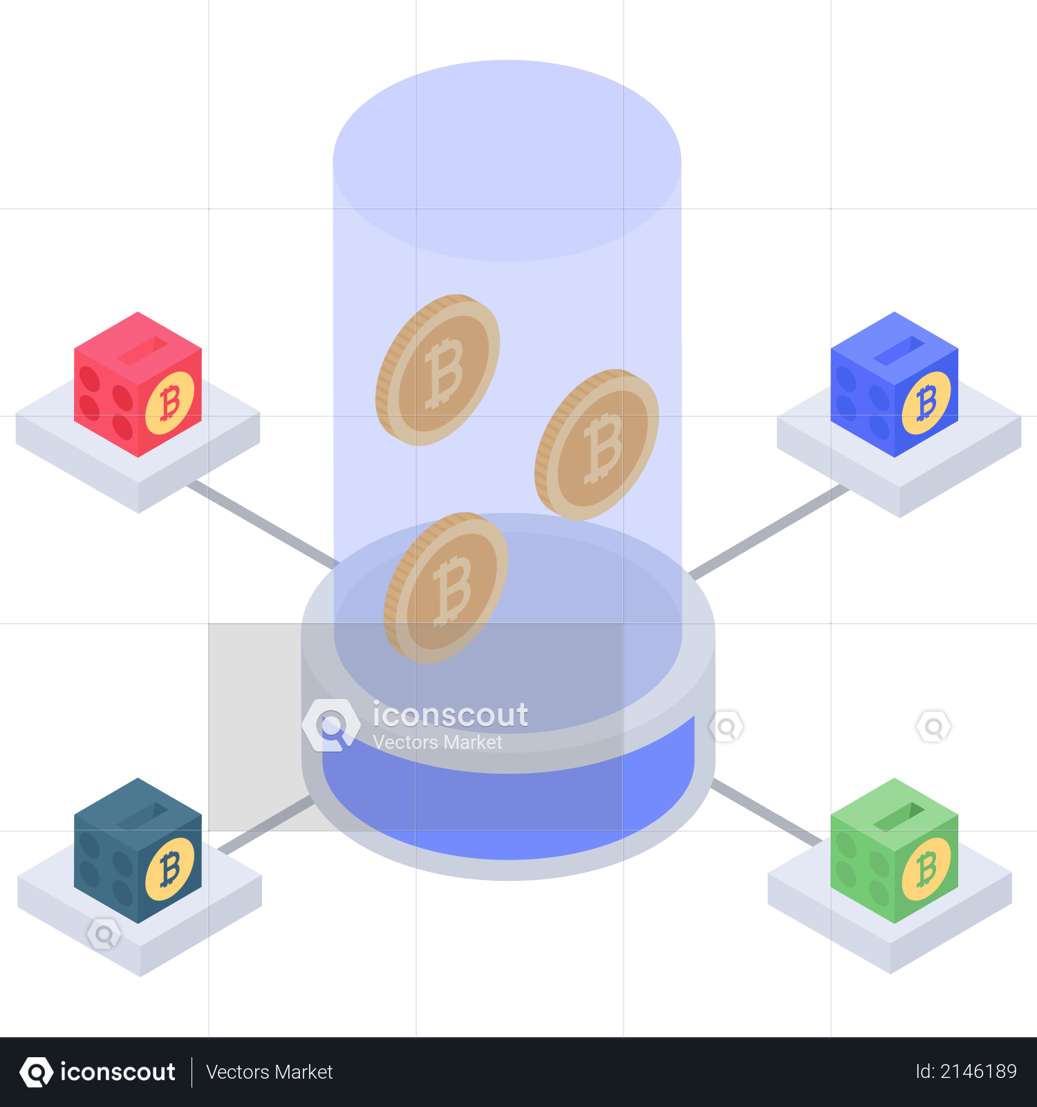 Bitcoin selling server Illustration