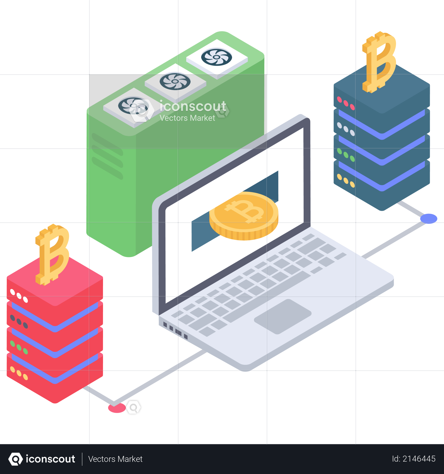 Bitcoin Server connection Illustration