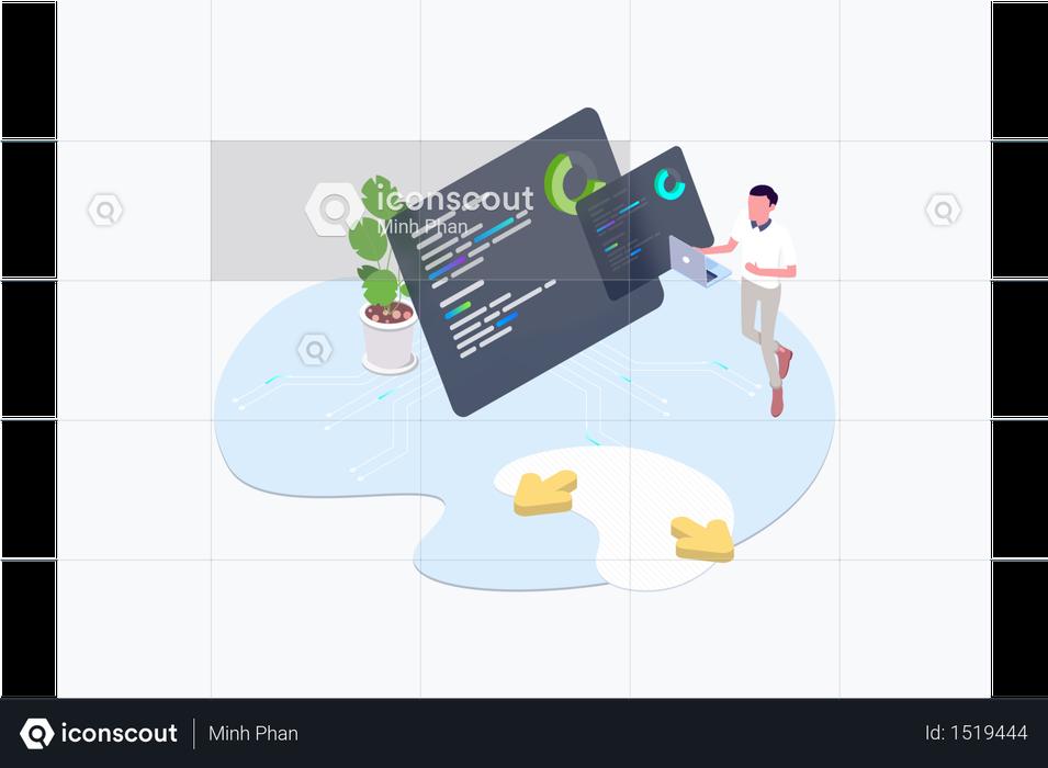 Blockchain Platform Mainnet Illustration