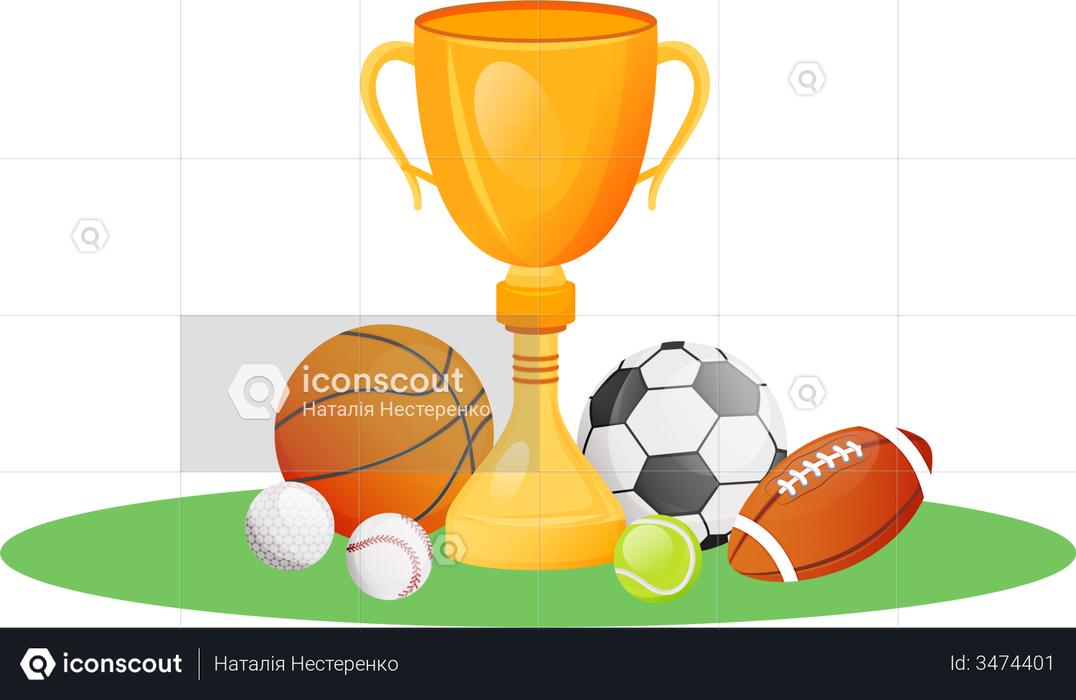 Championship trophy Illustration