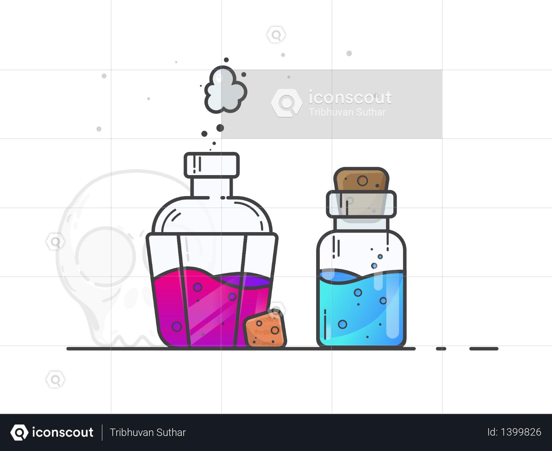 Chemical liquids Illustration