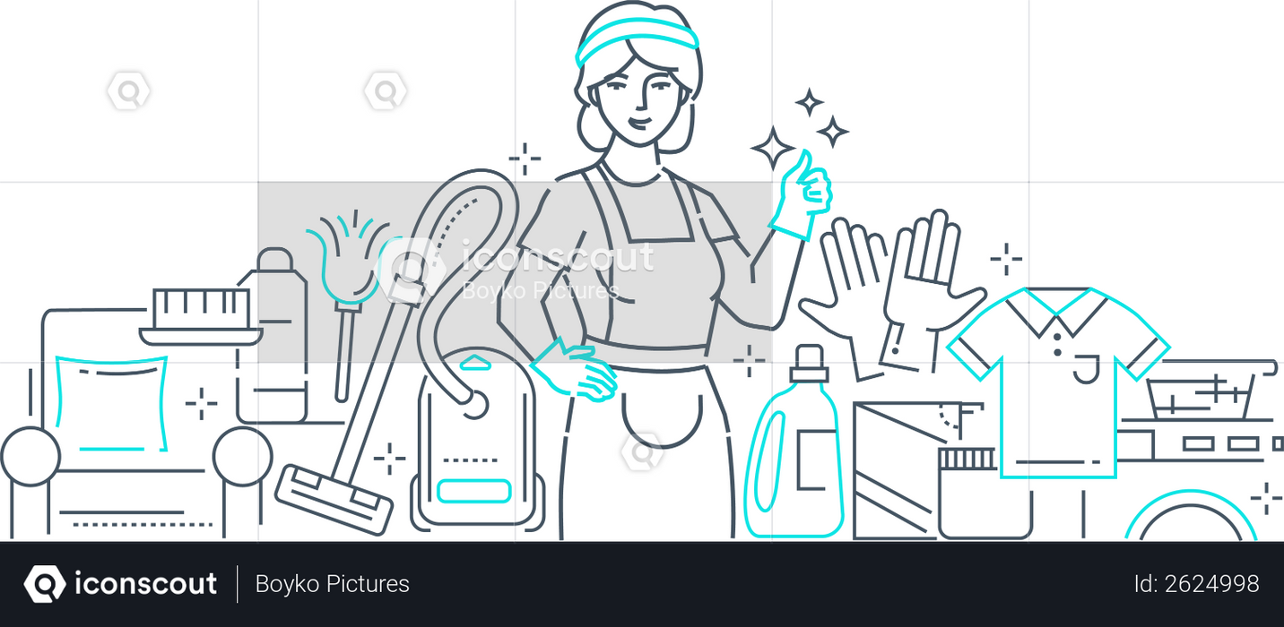 Cleaning service Illustration