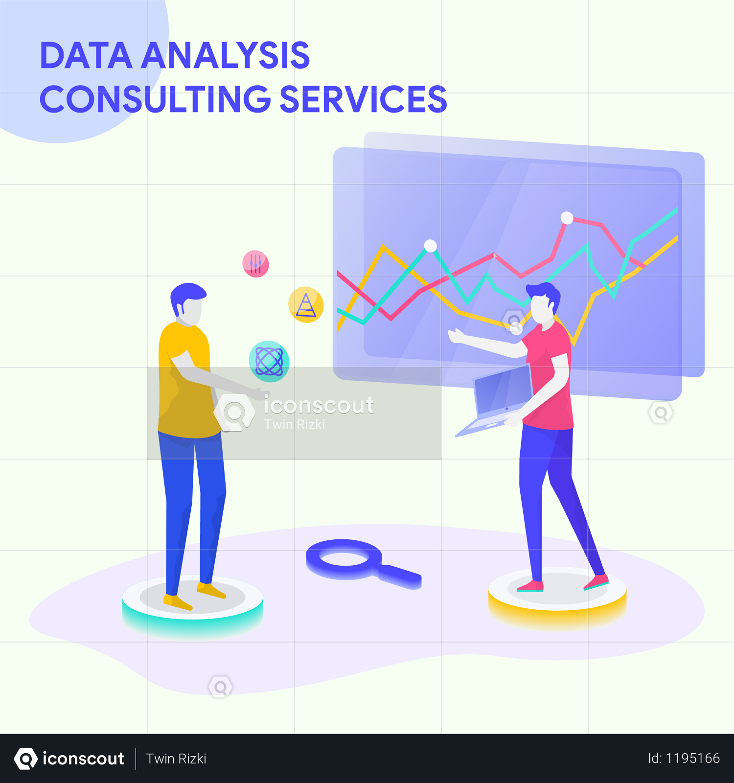 Data analysis and consulting services Illustration