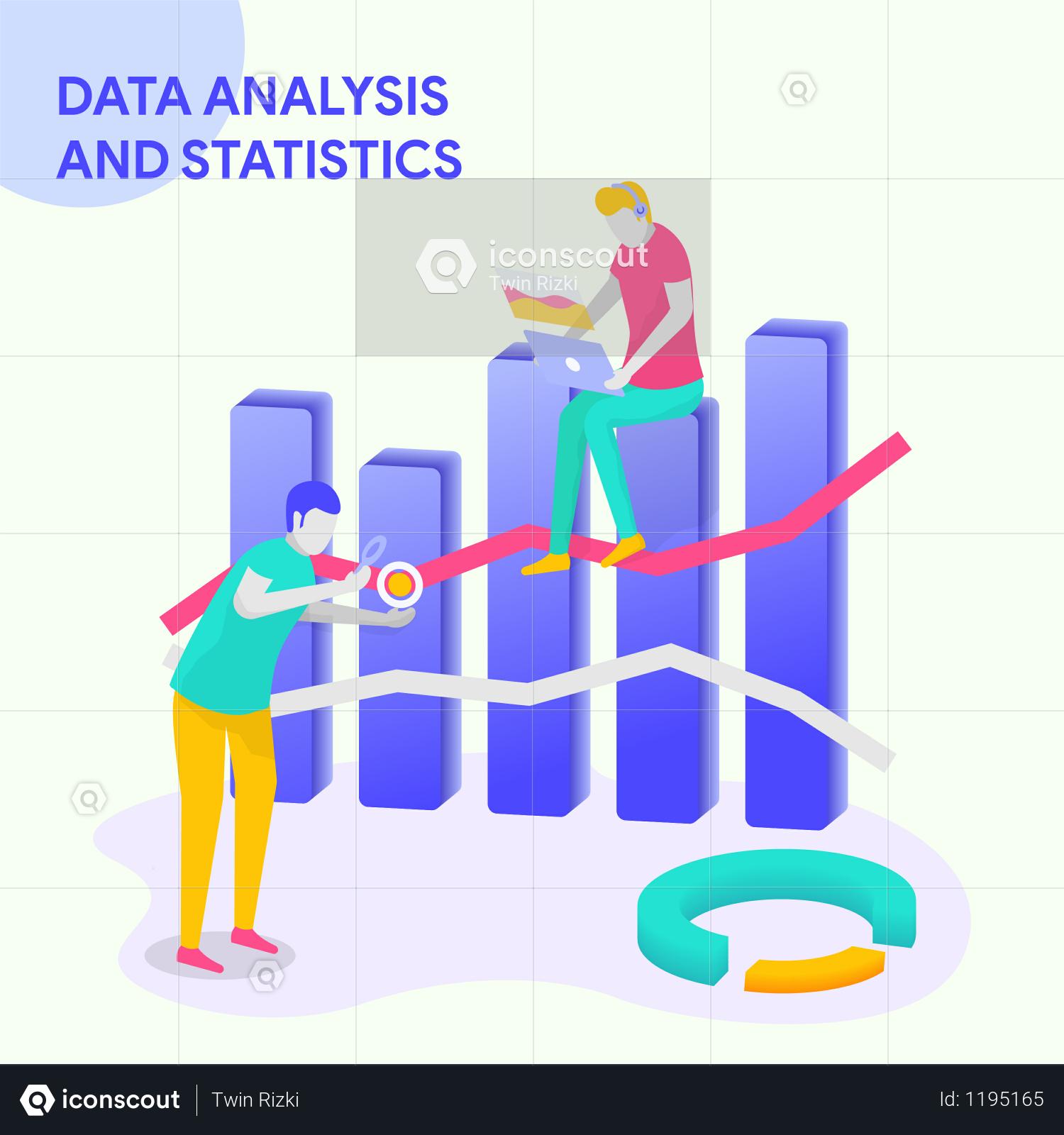 Premium DATA ANALYSIS & STATISTICS Illustration download in PNG & Vector  format
