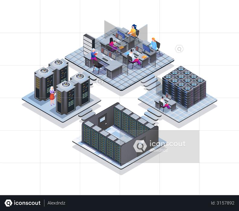 Data center Illustration