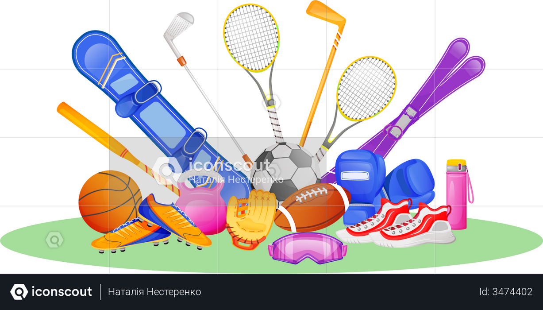 Different sport gear Illustration