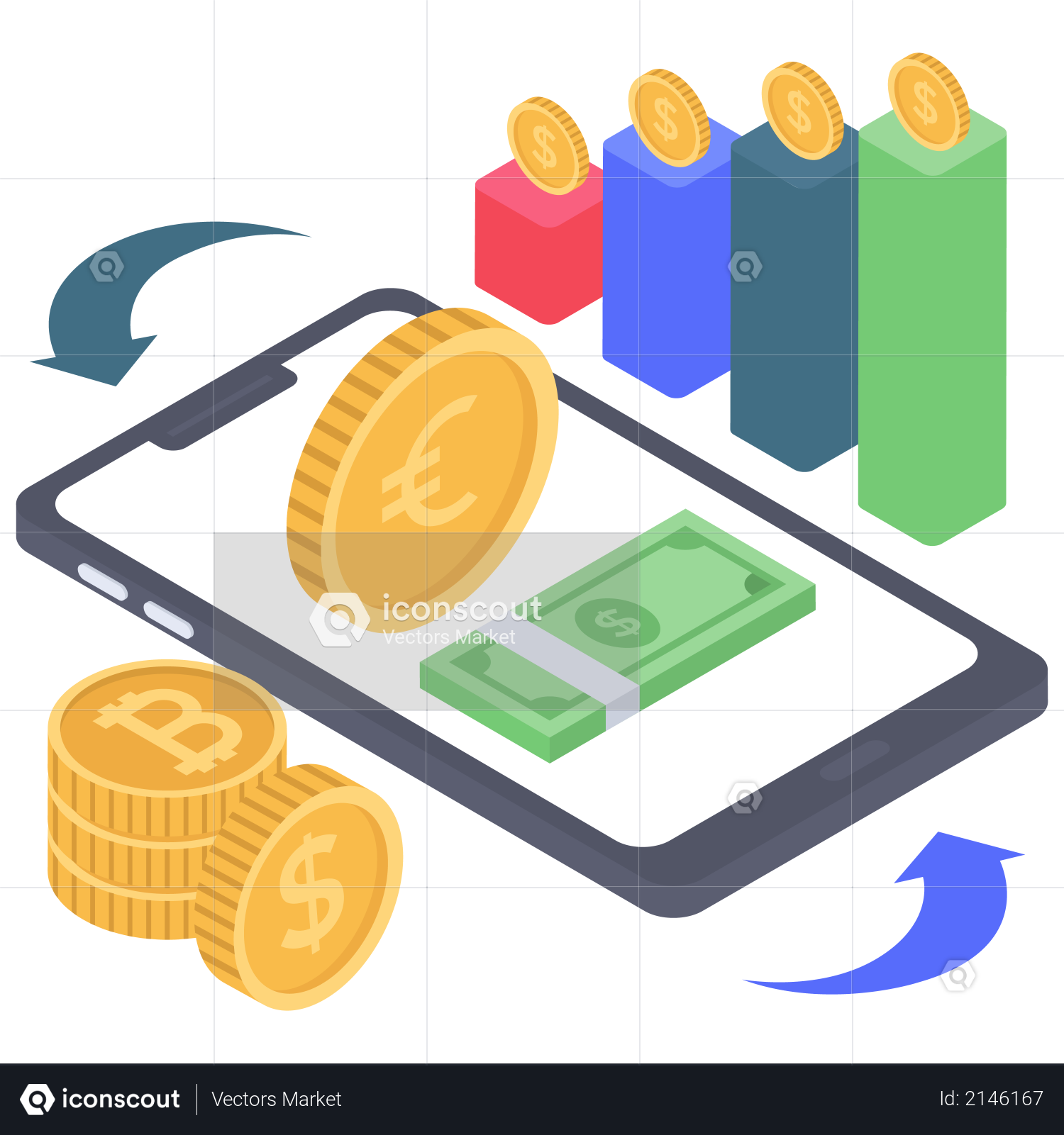 Digital Investment Growth Illustration