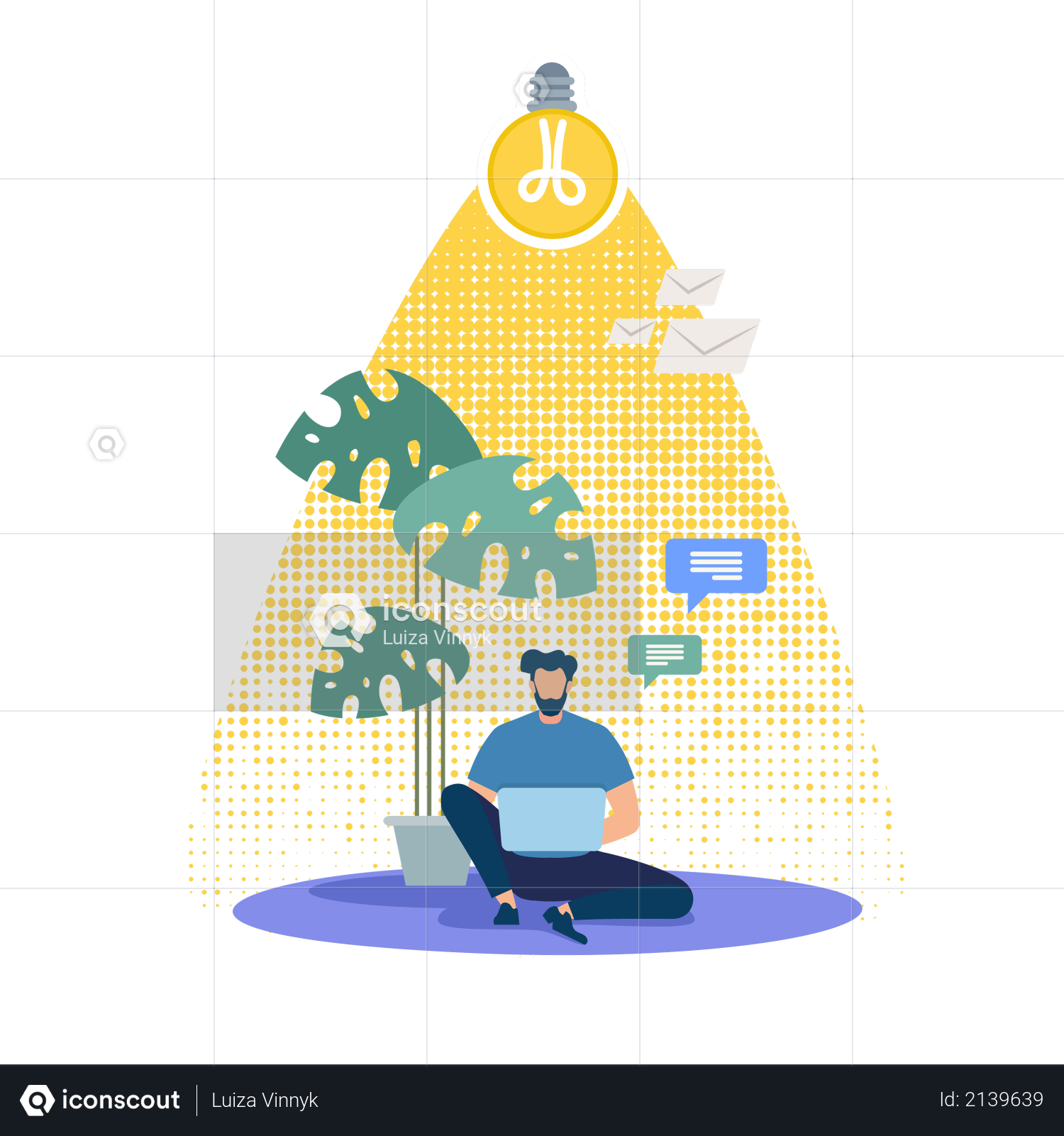 Distant Work and Education Illustration