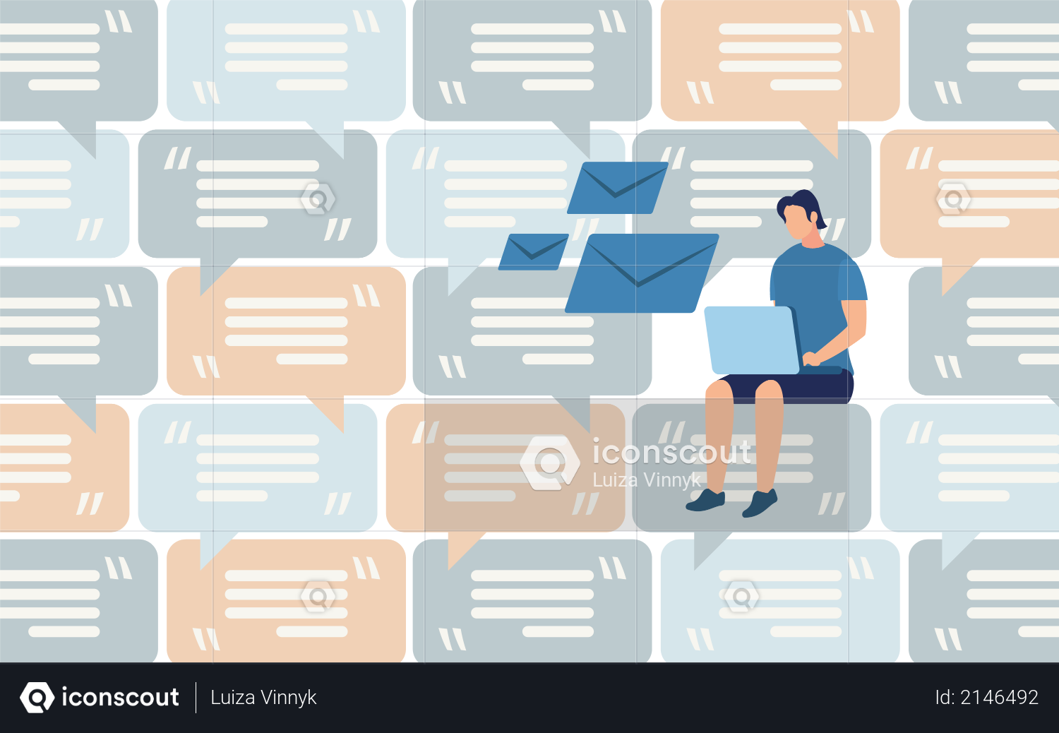 Distant Work, Communication in Social Network, Mass Mailing and Spam, Client Support Illustration